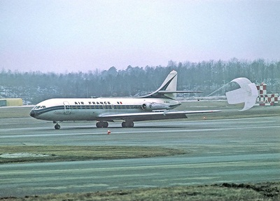 http://en.wikipedia.org/wiki/File:Air_France_Caravelle_with_parachute.jpg