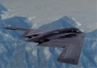 Gambar 3 Contoh bentuk pesawat stealth