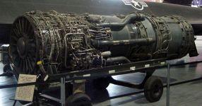 Engine J-58 Pratt-Whitney pada pesawat SR-71/Blackbird